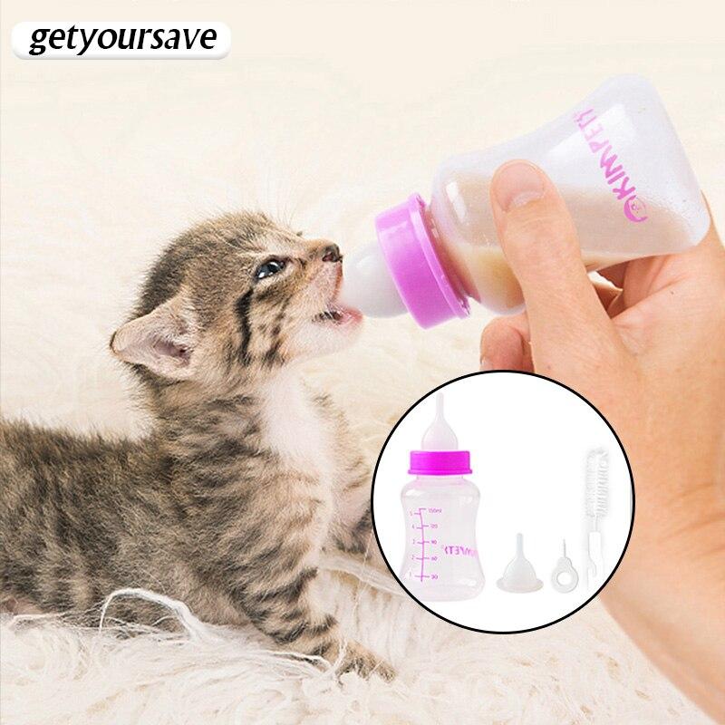 חתלתול האכלת בקבוק חתול מזין שתיין בקבוק האכלת תינוק מזין גורי בקבוק עבור חתול מזון יילוד גור להאכיל חלב 60/150ml