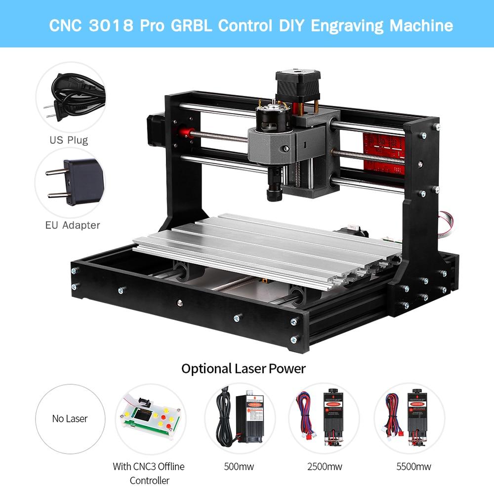 CNC 3018 Pro GRBL Control Engraving Machine Upgrade Version Laser Engraver DIY Mini CNC Machine 3 Axis Pcb Milling Machine