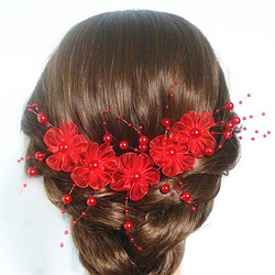 Свадебные аксессуары для волос украшение с кристаллами и жемчугом