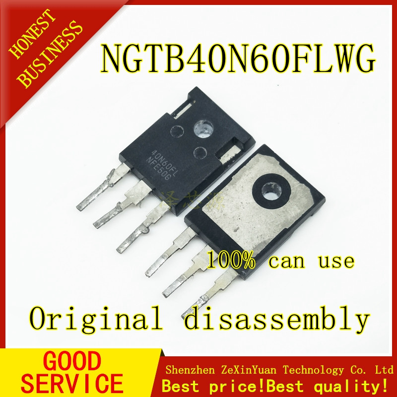 10PCS NGTB40N60FLWG 40N60FL  40A 600V TO-247 Original Disassembly