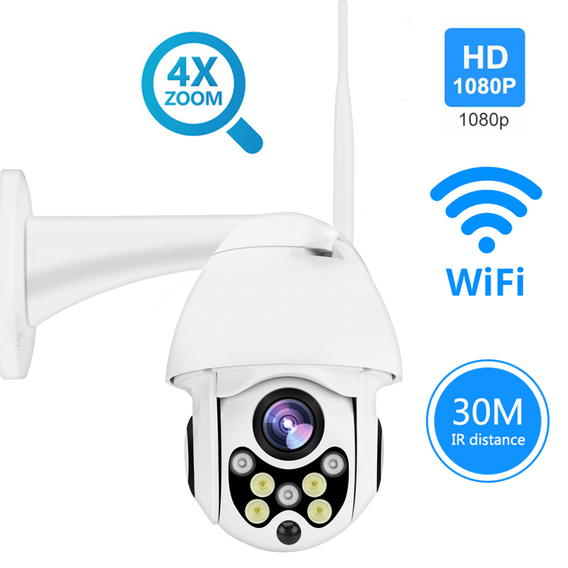 HD 720/1080P PTZ IP Camera Wireless Wifi Outdoor Speed Dome Security Camera Pan Tilt 4X Digital Zoom Network CCTV Surveillance