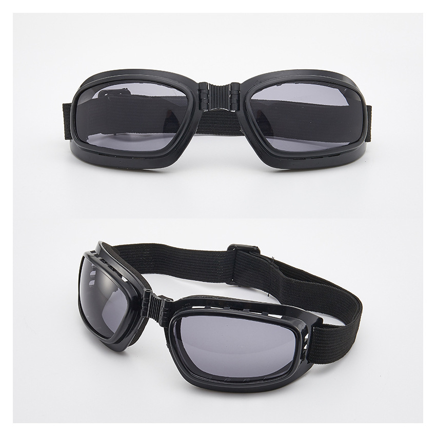 Folding Frame Retro Windshield Motorcycle Glasses Ski Goggles Off-road Dustproof Goggles Wholesale