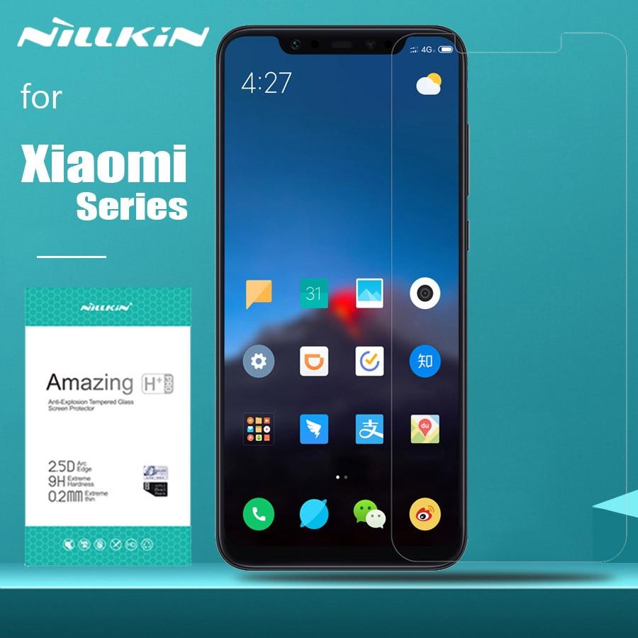 For Xiaomi Redmi Note 8T 8 7 Pro Glass Nillkin 9H Tempered Glass Screen Protector For Xiaomi Mi 10 9 Lite 8 Mi 9T Pro 6 Mi9 SE