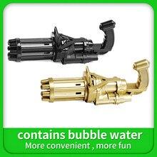 Children's Gatling bubble gun with bubble water, outdoor bubble gun, children's play bubble machine