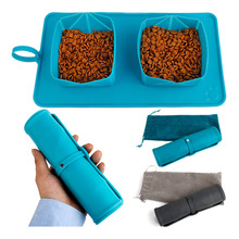 Foldable Field Pet Food Bowl Silica Gel Dog Movable And Cat Accessories Containers