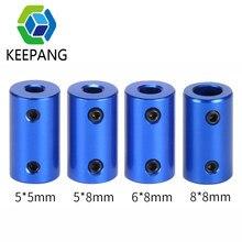 Acoplador de eje Flexible azul, acoplamiento de aleación de aluminio, diámetro 5mm 8mm, piezas de impresora 3D, tornillo acoplador de eje Flexible para Motor paso a paso