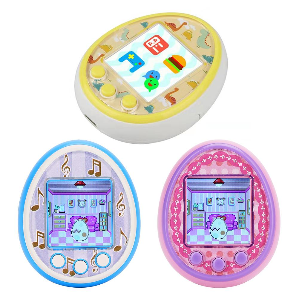 2019 Hot Color Screen Tomagotchi Electronic Pets Toys Virtual Pet Retro Cyber Funny Tumbler Ver Toys Kids Handheld Game Machine