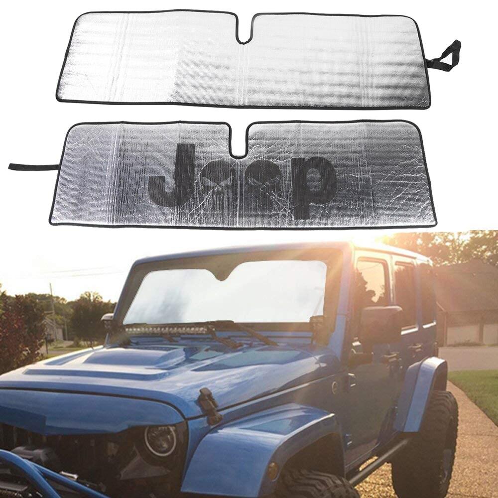 Aluminum Foil Windshield Sunshade Anti UV Rays Sun Shield For Jeep Wrangler JK
