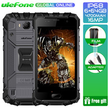 "Ulefone Armor 2 IP68 Waterdichte Smartphone 6GB + 64GB 5.0 ""Helio P25 Octa Core NFC 4700mAh 4G 16.0MP Mobiele Telefoon(China)"
