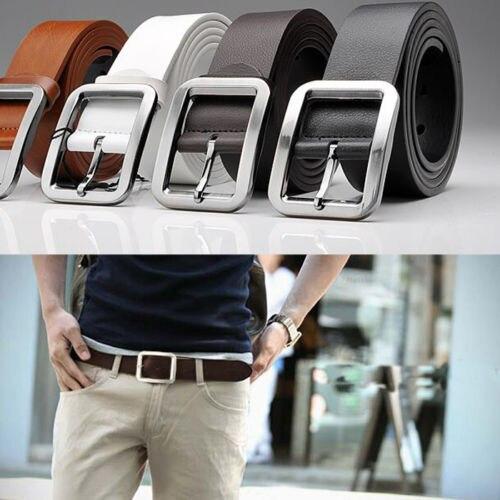 Men's  Women  Leather Dress Belt Pin Buckle Waist Strap Belts Waistband Unisex Belts