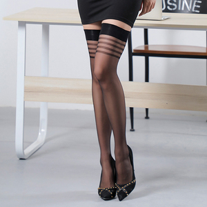 Women Sheer Sexy Stockings Lace Top Thigh High Stockings Over The Knee High Nightclubs Compression Long Socks Sexy Lingerie