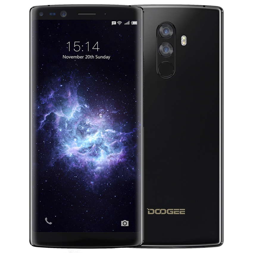 DOOGEE Mix 2 6GB RAM 64GB ROM Helio P25 Octa Core 5.99'' FHD+ 4G Smartphone Quad Camera Android 7.1 4060mAh Unlock mobile phone