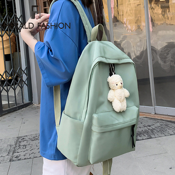 2020 Women Canvas Backpacks Girls School Bag Rucksack For Ladies Pink Black Travel Fashion Bagpack Backpack Bolsas Mochila Mujer