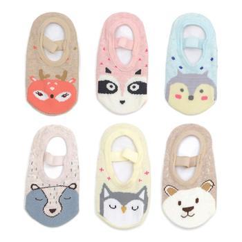 Baby Toddler Girls Socks Non Skid Anti Slip Mary Jane Socks Grip 12-36 Months 6 Pairs