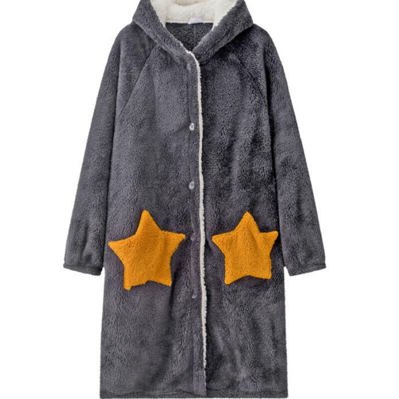 Winter-Blanket-with-Sleeve-Hooded-Hoodie-Women-Long-Sweatshirt-Female-Indoor-Pajama-Cardigan-Fleece-Jacket-Fannel. (2)