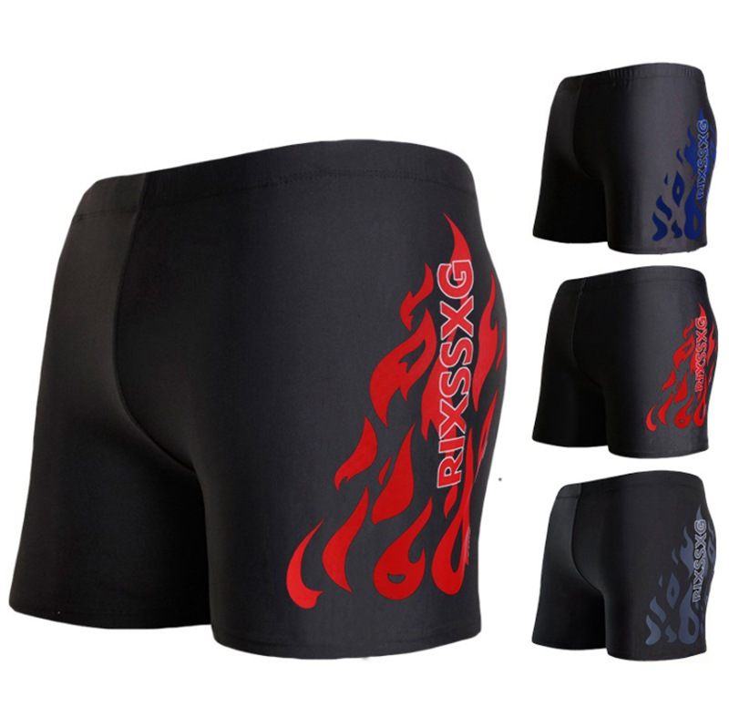 Amazon Swimming Trunks MEN'S Swimwear Comfortable Fashion Flame Men's Plus-sized AussieBum Bubble Hot Spring