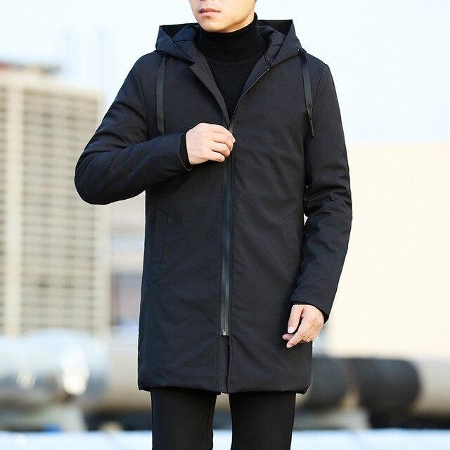 Men Jackets Autumn Winter Men's Trench Coat Men Casual Thicken Warm Hooded Jacket Male Windbreaker Outerwear Jaquet Man coat 6XL 4