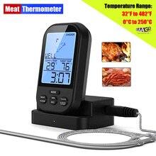 Беспроводной цифровой термометр для мяса, кухонный прибор для измерения температуры со щупом и таймером, для духовки, гриля, барбекю