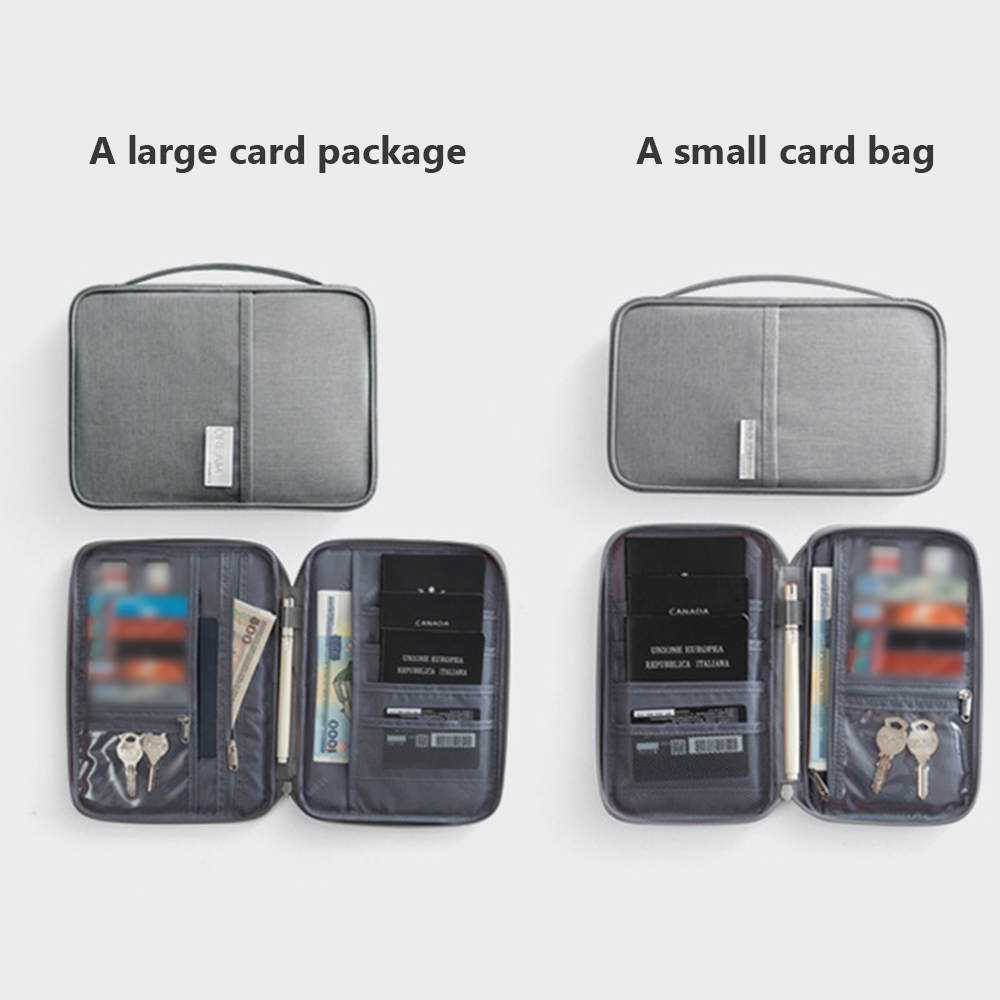 1pcs Passport Travel Wallet Holder Waterproof Multi-Function Credit Card Wallets Organizer Document Bag ID Card Storage Pack