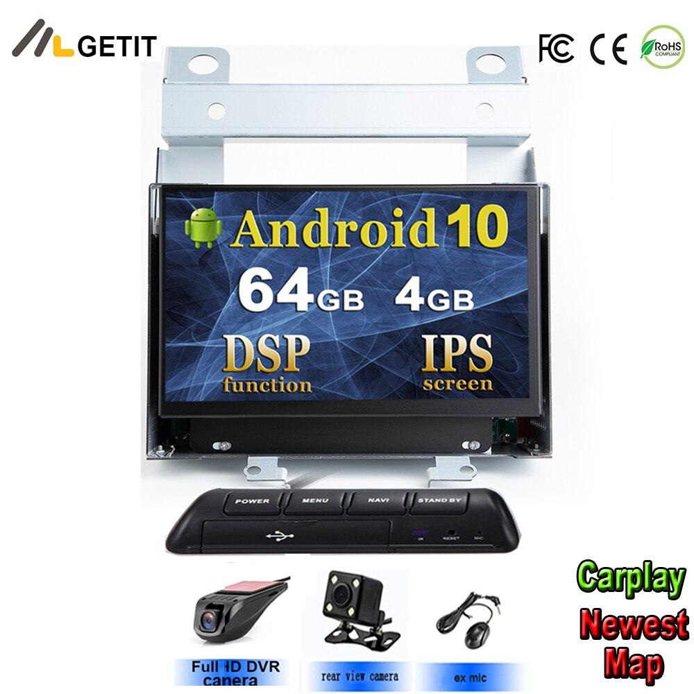 Microplaqueta dsp ips tela android 10 multimédios do carro para land rover freelander 2 2007-2012 gps navegação rádio estéreo wifi bt