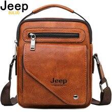 Jeep buluo split couro crossbody tote saco dos homens de designer famoso ombro mensageiro sacos de negócios moda alta qualidade