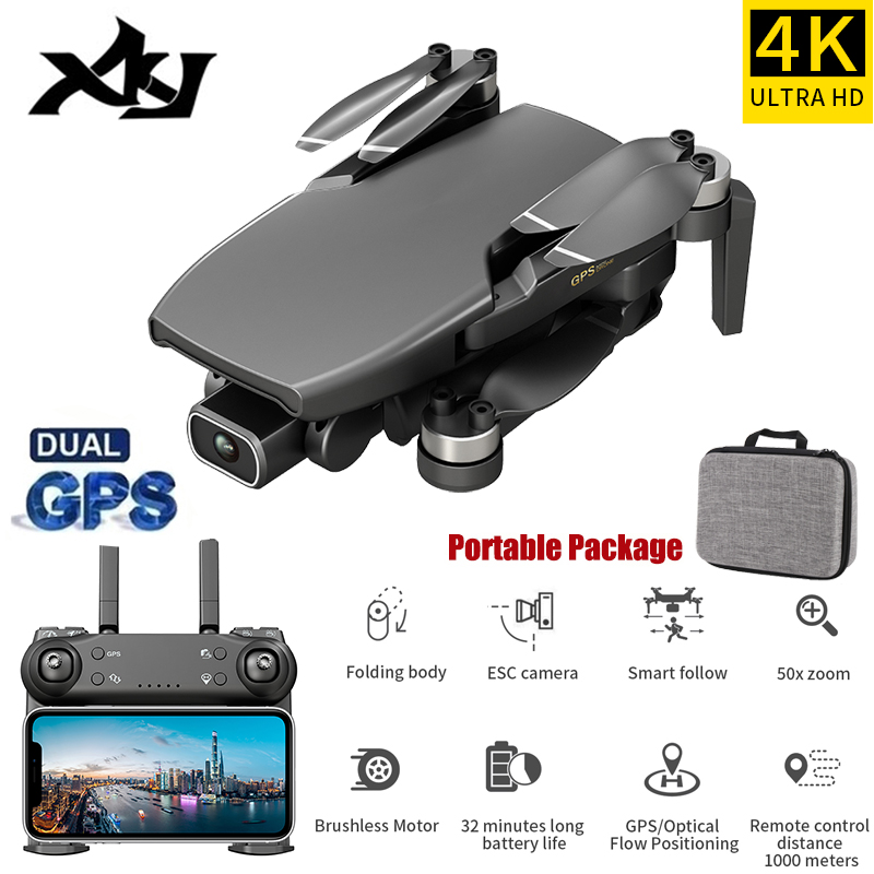 XKJ Gps Drone L108 With HD 4K Camera Professional 800m Image Transmission Brushless Motor Foldable Quadcopter RC Drones Kid Gift|RC Quadcopter| - AliExpress