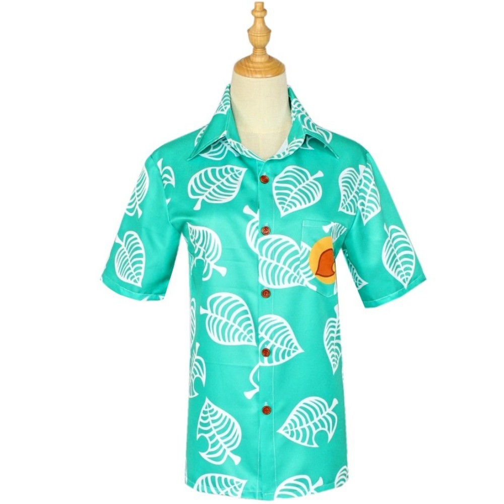 2020 Animal Crossing Shirt Game Cosplay Costume Tom Nook Shirt Fashion Men Women Short Sleeve Tees Summer Top Hawaiian Shirts image