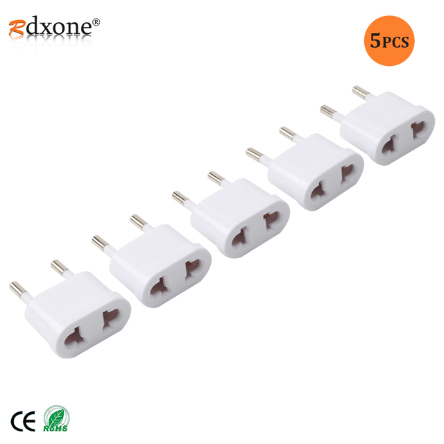 US to EU Europe Plug Power Adapter White Travel Power Plug Adapter Converter Wall Charger plug