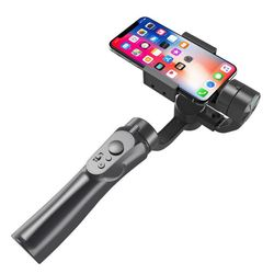 Outdoor 3 Axis Flexible H4 Holder Handheld Gimbal Stabilizer for IPhone Huawei Samsung Smart Phone PTZ Action Camera Stand