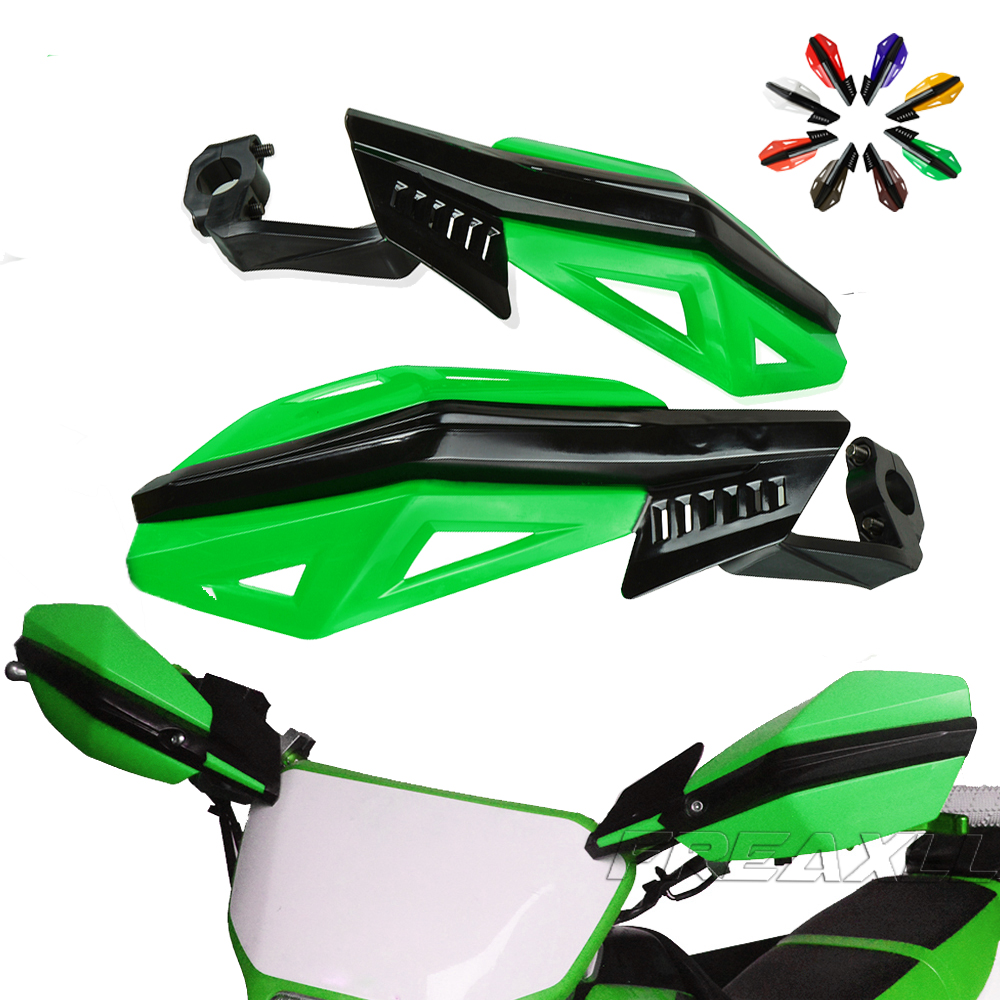 Motorcycle Handguards Hand Guards Dirtbike Universal Fit 7//8 1 1//8 Handlebar For Kawasaki KDX200 KX65 KX85 KX125 KX250 KX250F KX450F KLX450R Green