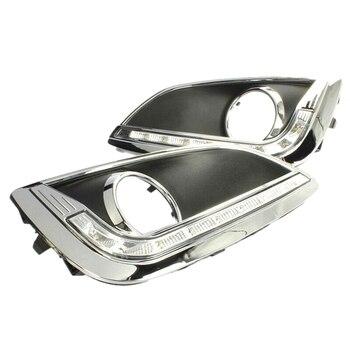 LED DRL Daytime Running Lights Fog Light Driving Bumper Fit for Hyundai Ix35 2010-2013