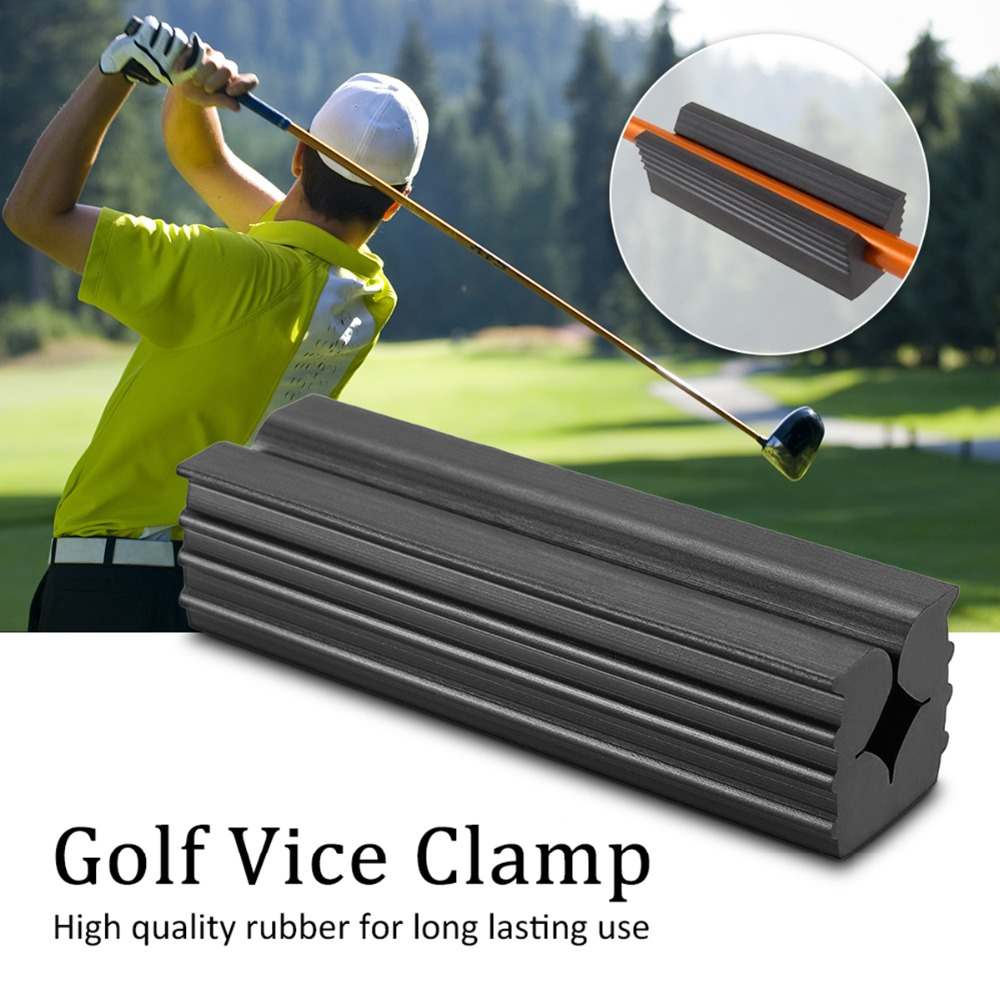 1 Pcs Golf Vice Clamp Golf Black Rubber Golf Club Grip Vice Clamps Grips Replacement Tool Golf Practice Premium Wedging Clamp