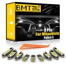BMTxms 8 Uds Canbus luz LED Interior de coche bombillas Kit No Error para Mitsubishi Montero Shogun Pajero 3 V60 V73 V75 V77 (2000-2006)