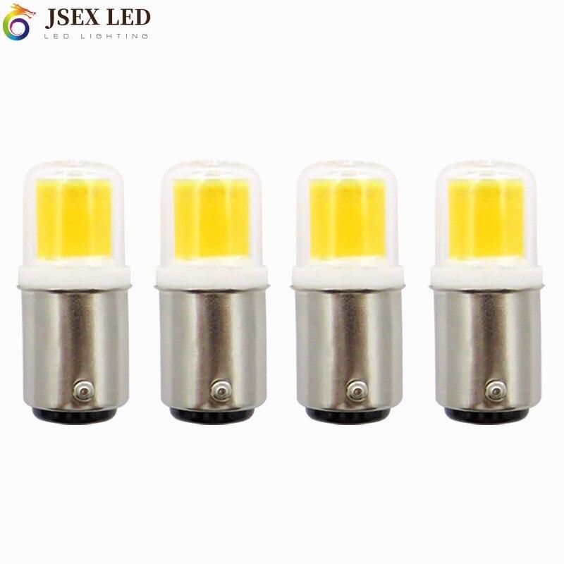 Ba15d pode ser escurecido conduziu a lâmpada 7w ac 12v 110v 220 cob 1511 conduziu a lâmpada para lâmpadas de vidro transparente da cobertura da máquina de costura do candelabro