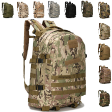 цена на Tactical Military Camouflage Backpack Outdoor Men Army Rucksack Sports Camping Hiking Climbing Molle Bags