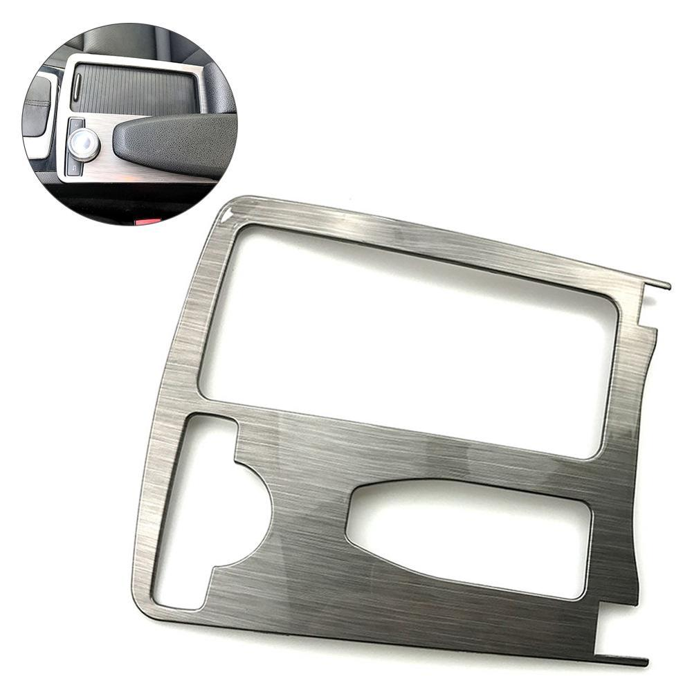 Car Water Cup Holder Panel Cover Trim Panel Frame Car Interior Gear <font><b>for</b></font> <font><b>Mercedes</b></font> Ben-z C180 <font><b>C200</b></font> W204 2008 to 2013 Car-styling image