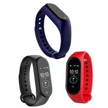 M4 Bluetooth Smart Band Smart Heart Rate Blood Pressure Oxygen Monitor Sport Band Fitness Tracker Wristband Smartband Watch Men