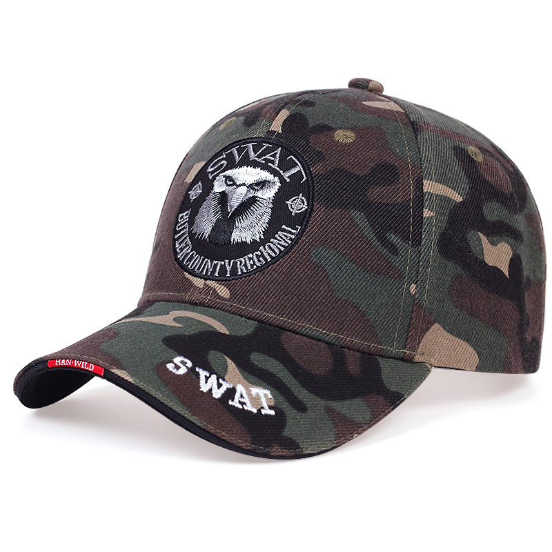 New highquality eagle embroidery baseball cap cotton outdoor shade hat hip-hop casual snapback hats wild tactical military caps