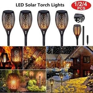 1/2/4 Pack LED Solar Flame Lig