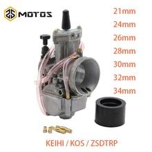 ZS MOTOS 2T 4T العالمي ل Keihi دراجة نارية المكربن Carburador 21 24 26 28 30 32 34 مللي متر مع السلطة النفاثة ل KOS المكربن