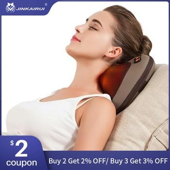 JinKaiRui Vibrating Kneading Neck Body Massager Hammer Pillow Infrared Shiatsu Electric Shoulder Back Massage Massagem Car/Home