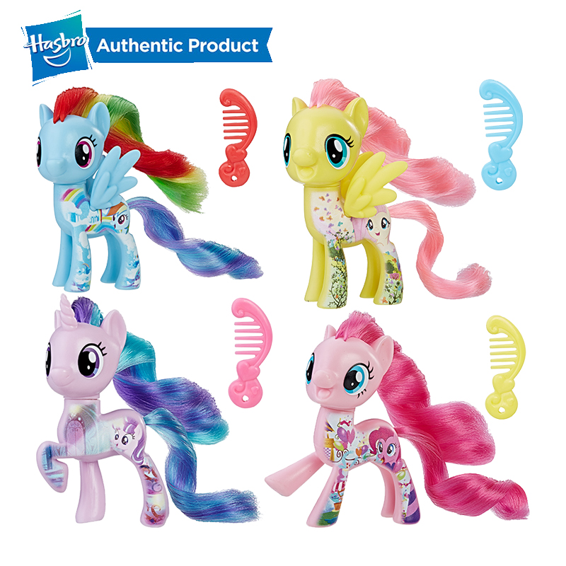 Hasbro My Little Pony Friends 3-Inch Fluttershy Rainbow Dash Pinkie Pie Lyra Heartstring Rarity Action Figure Collectible Toy