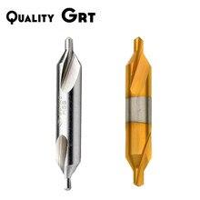 10pcs Quality Grt HSS Center Drill Bit 60 Degree Countersinks Angle Bit Metal Drill Bit HSS titanium spiral Center drill Process