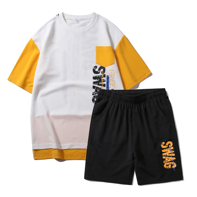 Summer Men Set Short Sleeve Casual Tracksuits Printing Men's Sportswear Sweat Suits New T Shirts+Shorts Set Male Brand Clothing