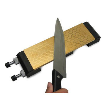 DMD Diamond Double Sided 400 and 1000 Grits Titanium Knife Sharpening Stone  With Size 200*70*8mm Whetstone with Holder