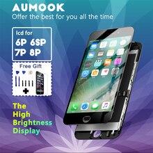 ЖК дисплей для iPhone 7 8 plus, сменный экран с дигитайзером для IPhone 6 plus, 6s plus, высокая яркость