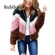 Rubilove Women Fashion Casual Coat Autumn Winter Warm Soft Zipper Jacket Long Sleeve Female Tops
