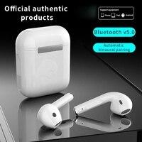 Cuffie Bluetooth Wireless i12 tws 5.0 cuffie sportive impermeabili con scatola di ricarica cuffie Smart Touch per telefono cellulare