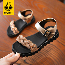 MOMIT kids shoes for girls and boys 2020 new summer Korean version of the soft bottom princess in the big child girl beach sanda korean version of slim fashion in the big girl child sweat breathable spring new girl dress for3 13t