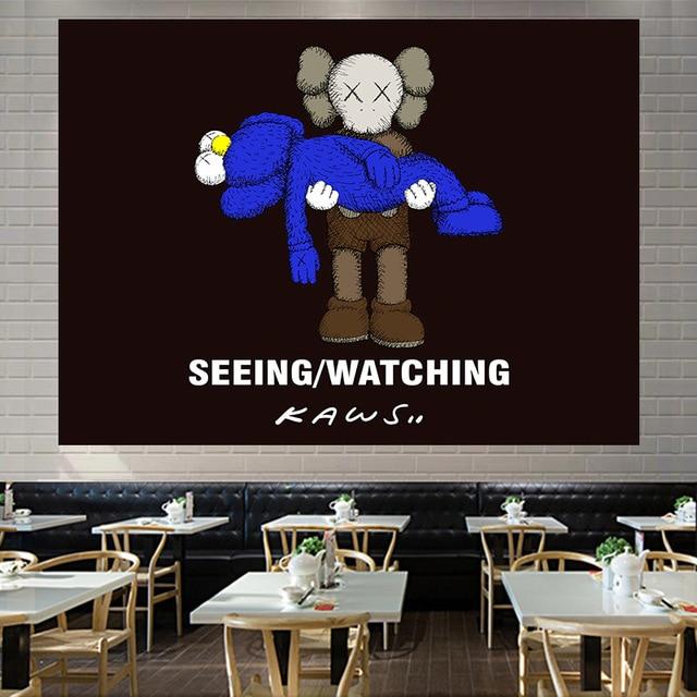 Jayi Hanging Cloth INS 북유럽 조수 브랜드 세서미 스트리트 배경 천으로 벽 룸 레이아웃 기숙사 침대 옆 Decora 176GT